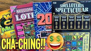 CHA-CHING!! Back on the LUCK TRAIN  $120 TEXAS LOTTERY Scratch Offs