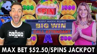 MAX Bet $52.50 Spins Searching for  Treasure Chest Jackpots!