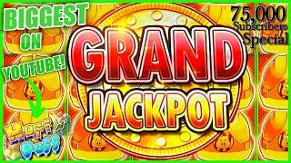 GRAND JACKPOT Lock It Link Huff N' Puff MASSIVE HANDPAY BIGGEST JACKPOT ON YOUTUBE FOR HUFF N PUFF!