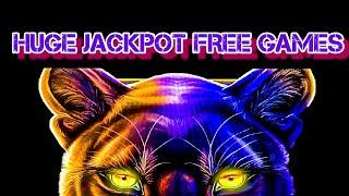 16 FREE GAMES/ PROWLING PANTHER SLOT JACKPOT/ MAX BETS/ HIGH LIMIT