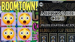 BoomTown! BIG WIN from my LUCKY TEXACO  $190 TEXAS LOTTERY Scratch Offs
