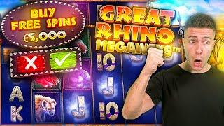 I DID A €5000 GREAT RHINO MEGAWAYS BONUS BUY AND IT WENT WELL! ft. Foss