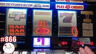 3 Reels Slots 9 Lines Triple Double 7s Red Hot Slot,  2x3x4x5 Super Times Pay Slot@Pechanga 赤富士スロット