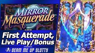 Mirror Masquerade Slot - First Attempt, Live Play and Free Spins Bonus