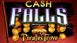 PROGRESSIVE HIT!! Can't Believe it landed! Cash Falls - Pirate's Trove