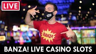 LIVE  BANZA! Casino Slots at San Manuel  Line it UP!!