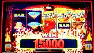 SMOKIN'' HOT STUFF - Wicked Wheel Slot Machine - WHEEL WIN!! - YAAMAVA CASINO