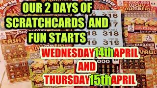 OUR TWO DAYS OF SCRATCHCARDS..STARTS NOW..WITH VIEWERS PICK