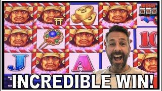 HUGE WIN ON SAMURAI SECRETS! LOCKING WILDS LEAD TO A MASSIVE PAYOUT ON THIS SLOT!
