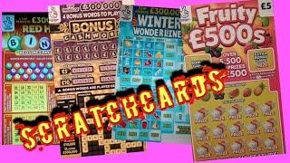 CASHWORD.BONUS..FRUITY £500s..REDHOT BINGO..WONDERLINES..& Show The £200.00 Scratchcards For SUNDAY