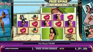 BETTIE PAGE Video Slot Casino Game with a PIN-UP PARTY FREE SPIN BONUS