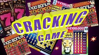 """FANTASTIC GAME""""CASHWORD""""£100 BONUS""""CASH 7s""""JEWEL SMASH""""LION DOUBLER""""& UPDATE ON YESTERDAYS BIG GAME"""""""