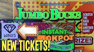 FOUND IT!  **NEW TICKETS** WINS on ALL 3! 5X Jumbo Bucks 300X  TEXAS Lottery Scratch Offs