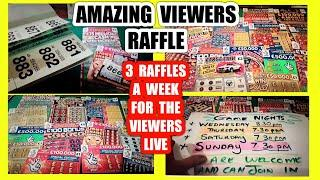 """AMAZING..RAFFLE""""LIVE'WE GIVE £80.AWAY TO VIEWERS LOTS SCRATCHCARDS.SENT POST FREE......3 TIMES WEEK"""