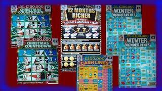 "CRACKING SCRATCHCARD GAME"" Christmas Countdown""12Mths Richer""Winter Wonderlines""5X Cash"