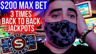 $200 A Spin BACK TO BACK TO BACK Bonuses & 3 JACKPOTS | Winning Mega Bucks On Slots | SE-4 | EP-26