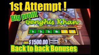 GENGHIS KHAN - Dragon Link - 1st Attempt Big Profit !
