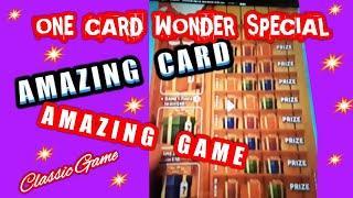 Wow..One Card Wonder..UNBELIEVABLE Classic Scratchcard..with Bonus cards...mmmmmmMMM..says