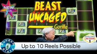 ️ New - Beast Uncaged Gorilla Slot Machine Bonus with Lots of Reels