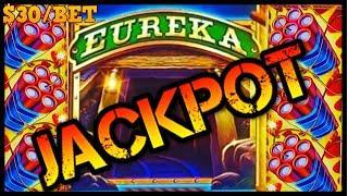 HIGH LIMIT SUPERLOCK Lock It Link Eureka Reel Blast JACKPOT HANDPAY $30 BONUS ROUND Slot Machine