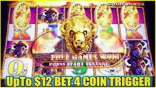 4 COIN TRIGGER! 28 SPINS BUFFALO GOLD SLOT MACHINE COIN SHOW