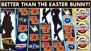 MAX BET BIG BUNNY WINS! SUPER QUICK HITS SLOT MACHINE, HIGH RISE FREE GAMES