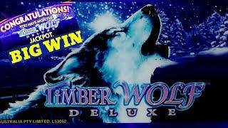 Timber Wolf Deluxe Slot Machine - SUPER BIG WIN   Timber Wolf Deluxe JACKPOT WON   W4 Jackpot Slot