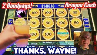2 HANDPAY JACKPOTS on Dragon Cash + RAVENS!  I Played Wayne's Slots and Couldn't Stop WINNING!