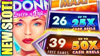 NEW SLOT! TOP FEATURE! SHE LOVES ME, SHE LOVES ME NOT...  MADONNA EXPRESS YOURSELF (Aristocrat)