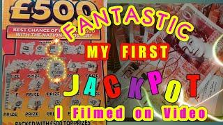 •It's a £500,00 Jackpot.•..Scratchcard game..•Wow!....•Night time classic