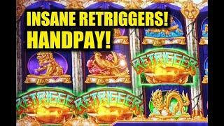 INSANE RETRIGGERS: Mighty Cash Double Up Handpay