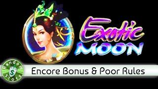 Exotic Moon slot machine, Encore Bonus with Poorly Written Rules