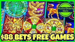$88 BETS/ TREE OF WEALTH/ HIGH LIMIT/ FREE GAMES