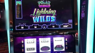 """VGT Slots """"Polar High Roller Lighting Wilds"""" Red Spin Wins  Choctaw Gaming Casino, Durant, OK."""