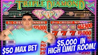 Let's Play $5,000 Only On High Limit 3 REEL SLOT MACHINES - $50 Max Bet ! Live Slot Play |SE-8 EP-24