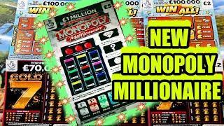 NEW MONOPOLY MILLIONAIRE..REDHOT BINGO..WIN ALL..GOLD 7s..CASH GRID