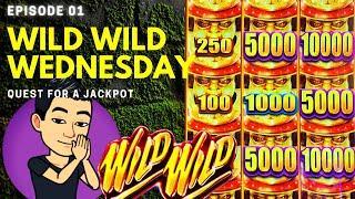WILD WILD WEDNESDAY! QUEST FOR A JACKPOT [EP 01]  WILD WILD SAMURAI Slot Machine (Aristocrat)