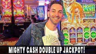 My BIGGEST Mighty Cash DOUBLE UP JACKPOT!  $22/BET HANDPAY  Agua Caliente #ad