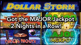 Hit the Major Jackpot Two Nights in a Row on Dollar Storm!