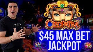 High Limit CLEOPATRA Slot Max Bet HANDPAY JACKPOT   Winning Money In Vegas   SE-3   EP-24