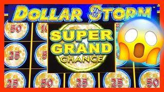 WOW I LANDED THE SUPER GRAND CHANCE !!  DOLLAR STORM LIGHTNING LINK  HIGH LIMIT  MASSIVE WINS!