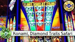 Diamond Trails Safari Winnings  slot machine preview, Konami, #G2E2019