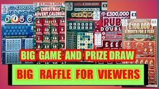 SCRATCHCARD  GAME ..and AMAZING BIG PRIZE DRAW....OF SCRATCHCARDS..FREE DELVERY TO YOUR HOME