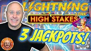 3 HIGH LIMIT JACKPOT$! Lightning Link High Stakes at $75 a Spin!