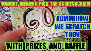 """SCRATCHCARDS..FUN & GAMES.""""PRIZES.FOR VIEWERS""""MORE TOMORROW"""