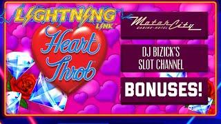 •️LIGHTNING LINK •️•Heart Throb Machine • ALL BONUSES
