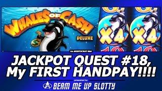 JACKPOT HANDPAY!!! Whales of Cash Deluxe Slot, LIVE As It Happens, Huge Free Spins Bonus Win!