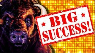 MASSIVE WIN ON BUFFALO GOLD SLOT MACHINE & More!