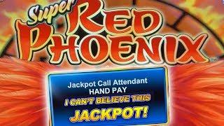 SUPER BIG JACKPOT!  RED PHOENIX SLOT MACHINE  HIGH LIMIT HANDPAY!