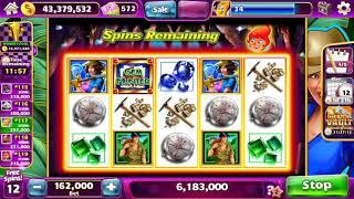 HOT HOT PENNY GEM HUNTER Video Slot Casino Game with a RETRIGGERED FREE SPIN BONUS